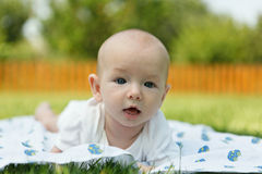 Portrait of sweet little baby boy Stock Photos