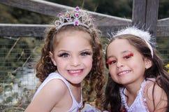 Portrait of sweet little girls wearing fairy Stock Image