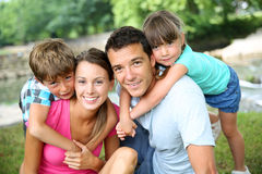 Portrait of sweet loving family Royalty Free Stock Photography