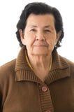 Portrait of sweet loving happy grandmother. Closeup portrait of sweet loving happy grandmother Stock Photo