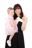 Portrait of sweet mother with her child Royalty Free Stock Photo