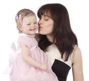 Portrait of sweet mother with her child Royalty Free Stock Image