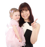 Portrait of sweet mother with her child Stock Photo