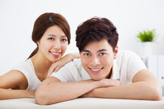 Portrait of sweet young couple Royalty Free Stock Photos