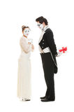 Portrait of sweethearts mimes Royalty Free Stock Photo