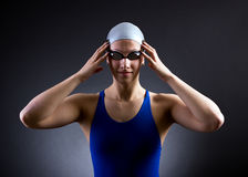 Portrait of a swimmer Stock Photo