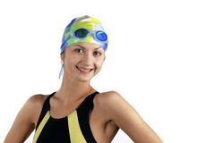 Portrait swimmer girl Stock Photography
