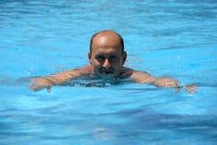 Portrait of swimming man royalty free stock photo
