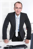 Portrait of a sympathetic manager in his office. Leading position in a company Royalty Free Stock Photos