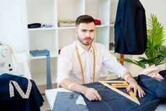 Portrait of a tailor Stock Image