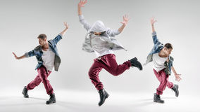 Portrait of a talented dancing guy Royalty Free Stock Photography