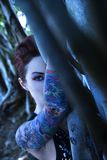 Portrait of tattooed woman. Stock Images