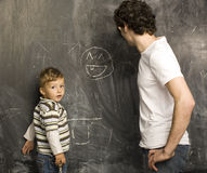 Portrait of teacher and little student Royalty Free Stock Photo