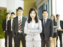 Portrait of team of asian business people stock photo