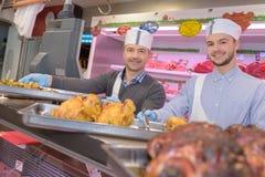 Portrait team butchers. Portrait of team of butchers Royalty Free Stock Photography