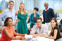 Portrait Of Team In Creative Office Stock Images