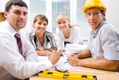 Portrait  the team of engineers Royalty Free Stock Image