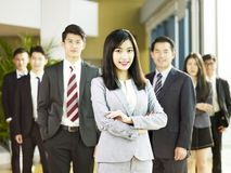 Portrait of team of asian business people royalty free stock photo