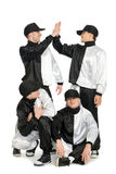 Portrait team of young break dancers Royalty Free Stock Photo