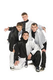 Portrait of a team of young break dancers Royalty Free Stock Images