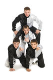 Portrait of a team of young break dancers Stock Images