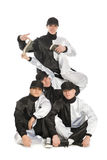Portrait of a team of young break dancers Stock Photo