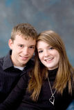 Portrait of teen age boy and girl Royalty Free Stock Photos