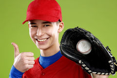 Portrait of a  teen baseball player Royalty Free Stock Photo