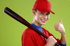 Portrait of a  teen baseball player Stock Image