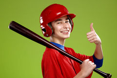 Portrait of a  teen baseball player Stock Images