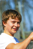 Portrait of a teen boy with braces Royalty Free Stock Photography