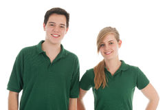 Portrait teen boy and girl Stock Images