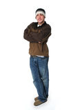 Portrait of teen boy standing and smiling Royalty Free Stock Images