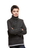Portrait of a teen boy in studio Stock Photography