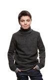 Portrait of a teen boy in studio Royalty Free Stock Photo