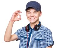 Portrait of teen boy royalty free stock image