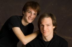 Portrait of teen brothers Royalty Free Stock Image