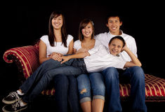 Portrait of a teen brothers and sisters Royalty Free Stock Photos