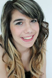 Portrait of teen girl. Beautiful portrait of a smiling teen girl Royalty Free Stock Photography
