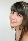 Portrait of teen girl. Beautiful portrait of a smiling teen girl Stock Image