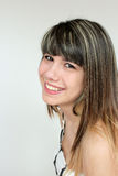 Portrait of teen girl. Beautiful portrait of a smiling teen girl Stock Images