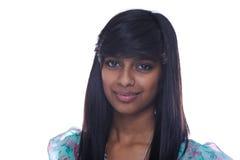 Portrait of teen girl. Indian teen girl wear blue dress Stock Photography