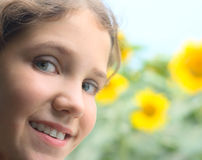 Portrait teen girl Stock Photo