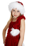 Portrait of teen girl in Christmas costume Stock Image