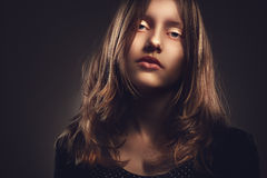 Portrait of a teen girl, closeup Stock Image