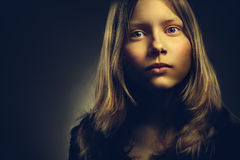 Portrait of a teen girl, closeup Royalty Free Stock Image