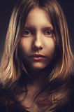 Portrait of a teen girl, closeup Stock Photos