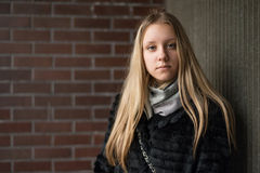Portrait of a teen girl with long hair Stock Images