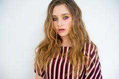 Teen girl model. A portrait of a teen girl model in a stdio Royalty Free Stock Photo