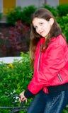 Portrait teen girl outdoor Royalty Free Stock Photos